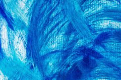 Acrylic paints background in blue tones. Abstract waves and sea theme Stock Image