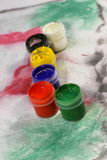 Acrylic paints Royalty Free Stock Photography
