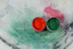 Acrylic paints Stock Images