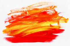 Acrylic Red and Yellow Abstract Background Royalty Free Stock Image