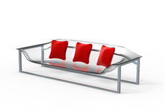 Acrylic Sofa With Pillows Royalty Free Stock Photography