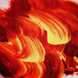 Acrylic texture and brush strokes which resembles to fire. Or sunset. Useful design elements royalty free illustration