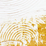 Acrylic textured gold paint abstract Stock Photography