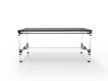 Acrylic Tubular Table. Modern table with scaffold joints  on a white background Royalty Free Stock Photo