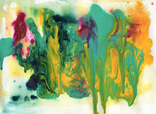 Acrylic and watercolor painted background. Abstract acrylic and watercolor painted background Royalty Free Stock Photo