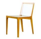 Acrylic wooden chair Royalty Free Stock Image