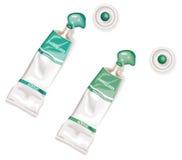 acrylic zielone farby gnieść tubki royalty ilustracja