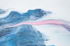 Acrylique, peinture, abstraite Plan rapproché de la peinture Fond abstrait coloré de peinture peinture à l'huile Haut-texturisée  illustration de vecteur