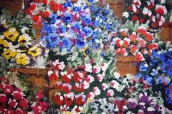 Acrylique sur la peinture de toile Image libre de droits