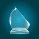 Acrylique vide brillant transparent Crystal Glass Trophy Aw de vecteur Photos stock