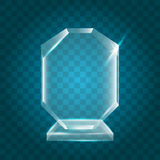 Acrylique vide brillant transparent Crystal Glass Trophy Aw de vecteur Images libres de droits