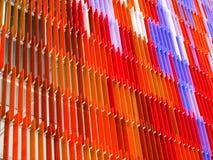 Acrylkunststoffplatte Innen- und buntes orange außenpurp Stockfoto