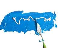Acryllack getrennt Lizenzfreie Stockfotografie