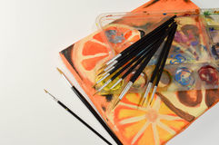 Acrylmalerei auf Segeltuch Lizenzfreie Stockfotos