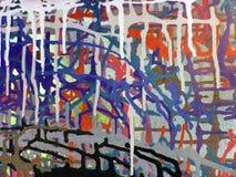 Acrylmalerei der abstrakten Kunst farbauf Segeltuch des bunten Hintergrundes Stockbild