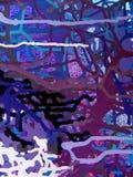 Acrylmalerei der abstrakten Kunst farbauf Segeltuch des bunten Hintergrundes Lizenzfreie Stockfotografie