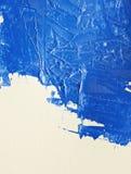 Acrylmalerei des blauen Aquarells mit Bürste an Stockfotografie