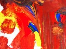Acrylmalereikünste wässern auf Papierhintergrundzusammenfassungsbeschaffenheit Lizenzfreie Stockfotos