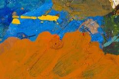 Acrylmalerpalettenhintergrund Lizenzfreie Stockfotos