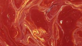 Acryltextuur met rode marmeringsachtergrond stock videobeelden