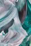 Acrylverven in tinten van groen royalty-vrije stock foto