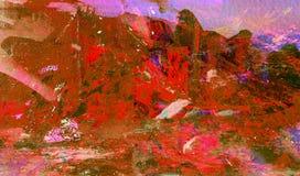 Acrylzusammenfassung auf Papier Lizenzfreie Stockfotografie