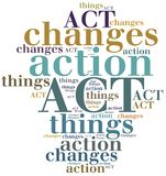 ACT. Action Change Things. Royalty Free Stock Images