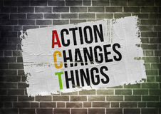 Act Changes Things. Poster concept Stock Images