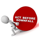 Act before downfall Stock Photo