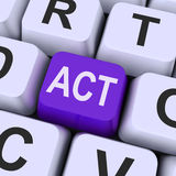 Act key Means Perform Or Acting Stock Image