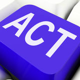 Act Key Means To Perform Or Do. Act Key Means To Perform Proactive Or Do Stock Photos