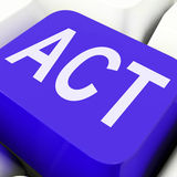 Act Key Means To Perform Or Do Stock Photography