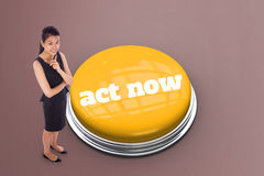 Act now against grey vignette Stock Image