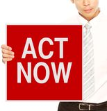 Act Now Stock Photos