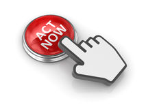 Act now button Royalty Free Stock Photo