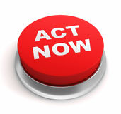 Act now button concept 3d illustration Stock Images