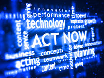 Act Now Royalty Free Stock Photo