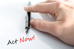 Act Now Concept. Over White Background Royalty Free Stock Photo