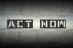Act now gr Stock Photography