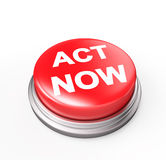 Act Now Red Button Stock Image