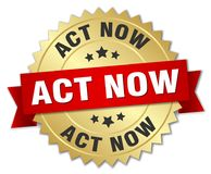 act now badge Royalty Free Stock Images