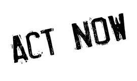 Act Now rubber stamp stock illustration