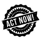 Act now stamp Royalty Free Stock Photography