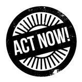 Act now stamp Stock Images