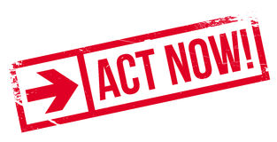Act now stamp Stock Photos