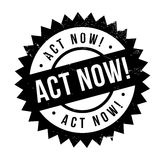 Act now stamp Stock Image