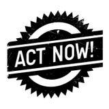 Act now stamp Stock Photo