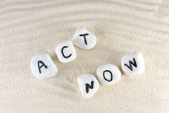 Act now words Stock Image