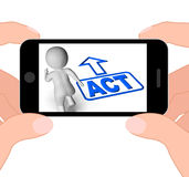 Act And Running Character Displays Urgent Action Stock Images