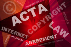 ACTA conception texts Stock Images